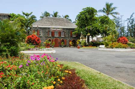 Saint Leu (La Reunion), France - 29 December 2002: Town hall of Saint Leu on La Reunion island, France