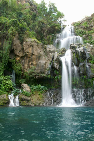 ballad: Les Cormorans waterfall on Reunion island, France