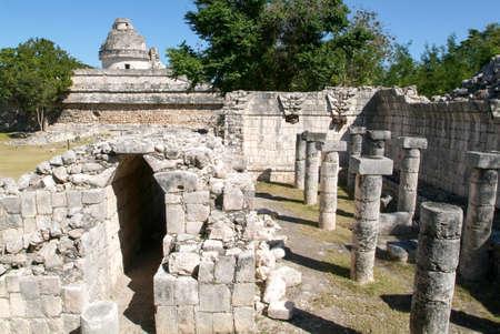 itza: Mayan observatory ruin at Chichen Itza on Mexico