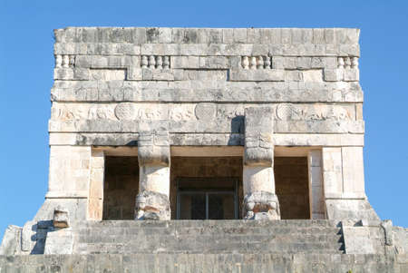 itza: Mayan pyramid of Jaguares in Chichen Itza, Mexico Stock Photo