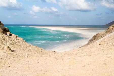 The beach of Qalansiya on the island of Socotra, Yemen