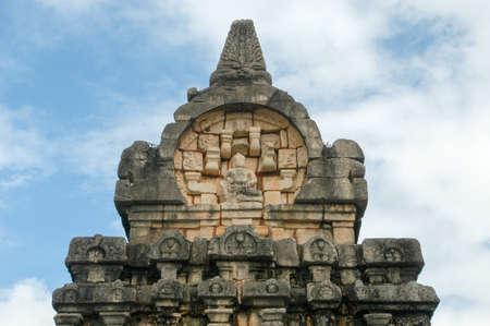 archaeological sites: Nalanda Gedige temple, ancient complete stone building near Matale on Sri Lanka Stock Photo