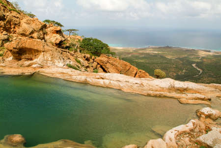 obesum: The mountain lake of Homhil on the island of Socotra, Yemen