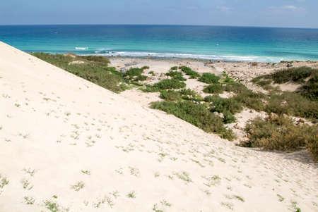 Sand dune of Arher beach on Socotra island, Yemen