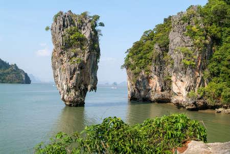 phang nga: Phang Nga Bay,  Island in Thailand Stock Photo