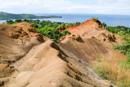 Landscape of the coast at Mayotte island, France