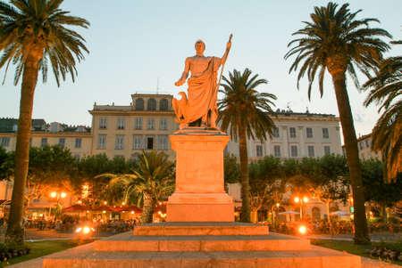 Bastia, France - 15 July 2006: Statue of Bonaparte Napoleon at Bastia on Corsica island, France