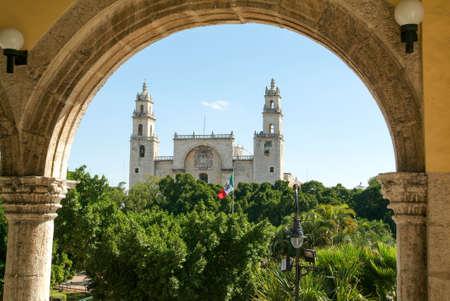 ユカタン半島、メキシコのメリダの大聖堂