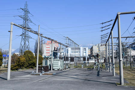 megawatt: Power station for making Electricity at Lugano on the italian part of Switzerland Stock Photo