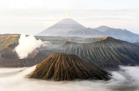 Vulcano mount Bromo located in Bromo Tengger Semeru National Park, East Java, Indonesia.
