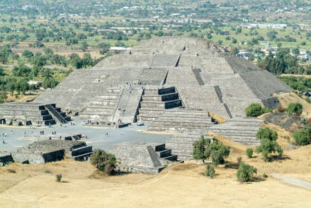 ancient civilisations: The moon pyramid at Teotihuacan en Mexico, Unesco world heritage