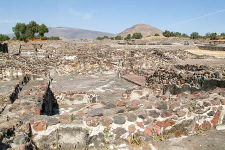 ancient civilisations: The sun pyramid at Teotihuacan en Mexico, Unesco world heritage