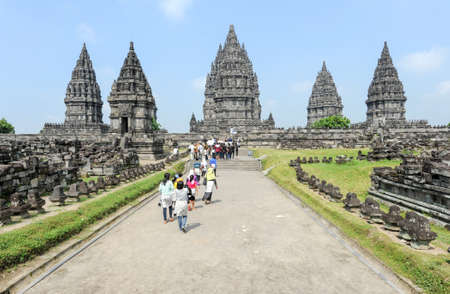 Prambanan, Indonesia - 2 February 2013: Prambanan is a Hindu temple compound in Java on Indonesia, Unesco world heritage