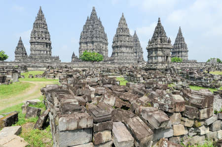 Prambanan is a Hindu temple compound in Java on Indonesia, Unesco world heritage