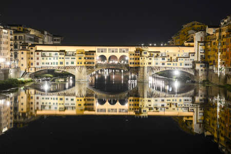 Firenze, Italy - 5 July 2017: Famous bridge of Ponte Vecchio in Florence on Italy.