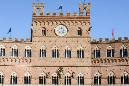 Detail of the town hall at Siena on Italy Stock Photo