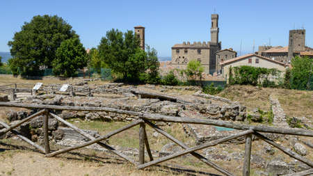 Etruscan archaeological excavations of Volterra on Tuscany, Italy