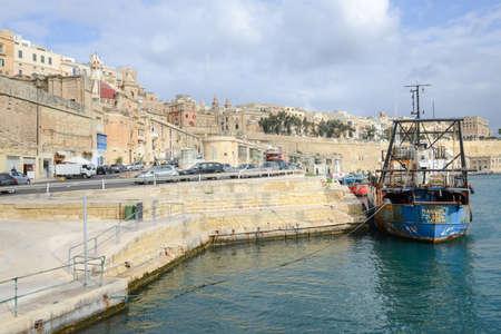 La Valletta, Malta - 2 Novembre 2017: View of Valletta, the capital city of Malta Redakční