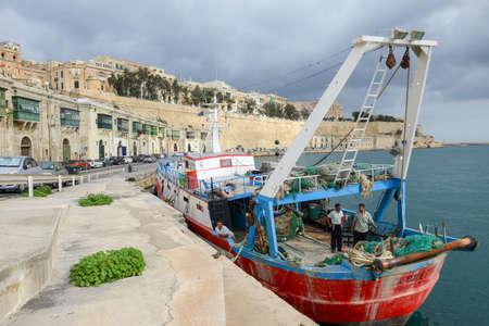 La Valletta, Malta - 2 Novembre 2017: View of Valletta, the capital city of Malta Editorial