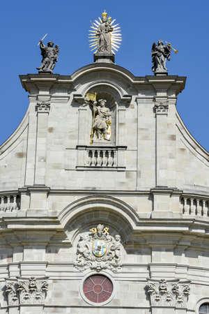 Detail of Einsiedeln abbey on Switzerland Stock Photo