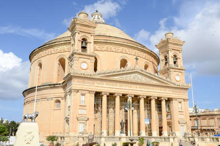 Mosta, Malta - 1 November 2017: The Church of the Assumption of Our Lady at Mosta on Malta Éditoriale