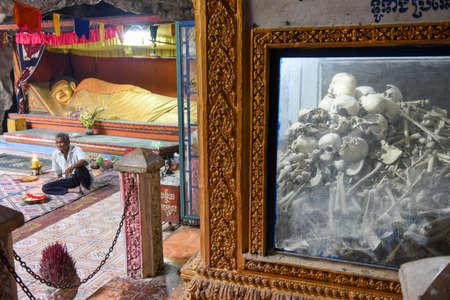Battambang, Cambodia -15 January 2018: Killing caves of Phnom Sampeau at Battambang on Cambodia Sajtókép
