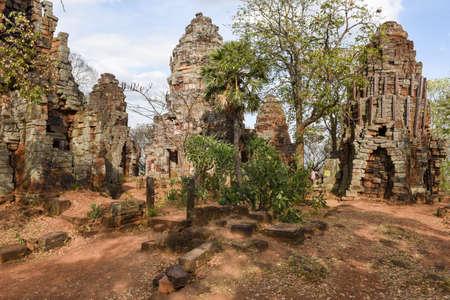 Phnom Banan temple at Battambang on Cambodia Stock Photo