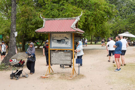Phnom Penh, Cambodia - 17 January 2018: people visiting the Choeung Ek killing fields near Phnom Penh on Cambodia