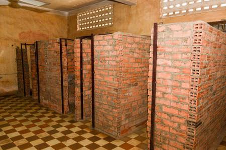 Prison Cell of S21 prison at Phnom Penh on Cambodia