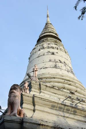Buddhist temple of Wat Phnom at Phnom Penh on Cambodia