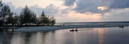 Koh Kood, Thailand - 27 January 2018: sunset at the beach of Koh Kood island, Thailand