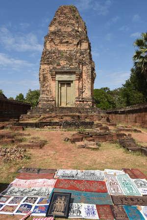 Siem Reap, Cambodia - 11 January 2018: East Mebon Prasat temple of Angkor Wat at Siem Reap on Cambodia
