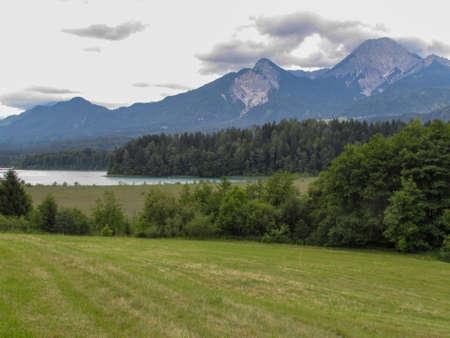 Landscape near lake Fakkar on Carinthia in Austria