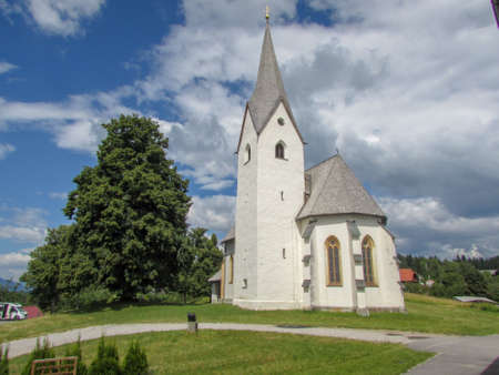 Church of Faak am See on Carinthia in Austria Stock Photo