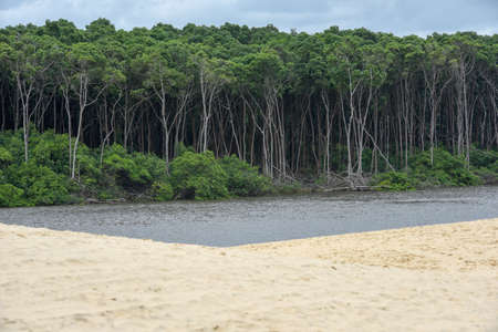 From Atins to Barreirinhas on river Preguicas in Brazil Stock Photo