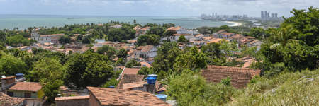Old colonial town of Olinda with the city of Recife in the background on Brazil