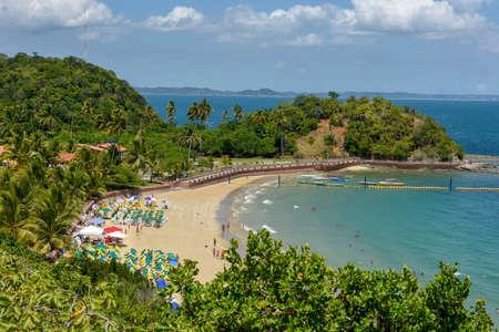 The beach at Frades island near Salvador Bahia on Brazil Foto de archivo