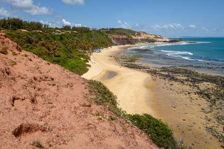 Beautiful beach of Praia do Amor near Pipa on Brazil