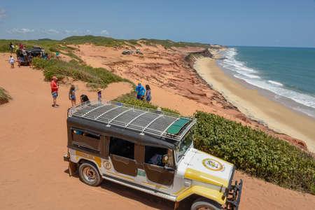 Pipa, Brazil- 23 January 2019: Beautiful beach of Praia do Amor near Pipa on Brazil Editorial