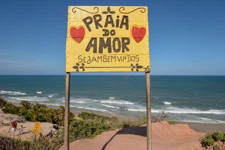 Pipa, Brazil - 23 January 2019: Beautiful beach of Praia do Amor near Pipa on Brazil