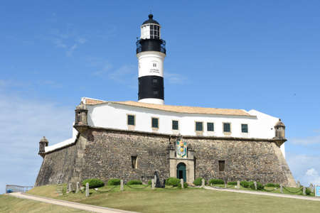 The historic Farol da Barra (Barra Lighthouse) in Salvador Bahia on Brazil