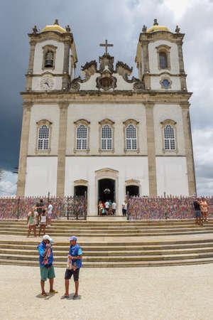 Salvador, Brazil - 5 February 2019: people visiting Bonfim church at Salvador Bahia on Brazil Editorial