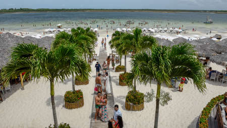 Jericoacoara, Brazil - 9 January 2019: beach resort at Jericoacoara on Brazil Stock Photo - 123883405