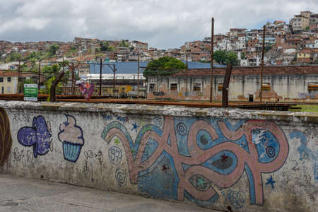 Salvador, Brazil - 5 february 2019: favela at Salvador Bahia on Brazil