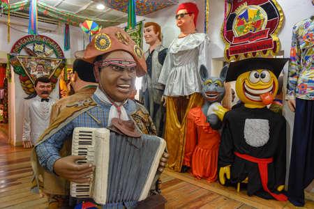 Carnival puppets of Olinda on Brazil