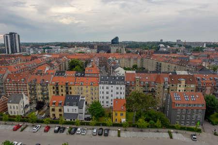 Skyline of Aarhus on Denmark