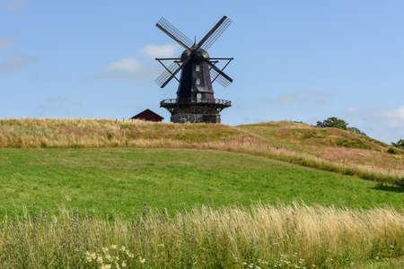 Old wodden windmill at Mölle on Sweden Stockfoto
