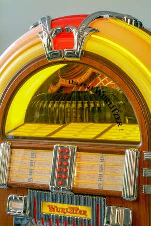 London, England - 23 May 2008: Real Wurlitzer 1950's style Juke Box