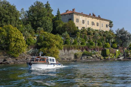 Isola Madre, Italy - 26 September 2019: Palace and garden park of Madre island on lake Maggiore in Italy Editorial