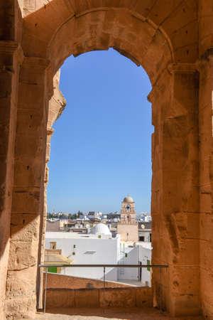 Roman amphitheater of El Jem on Tunisia.